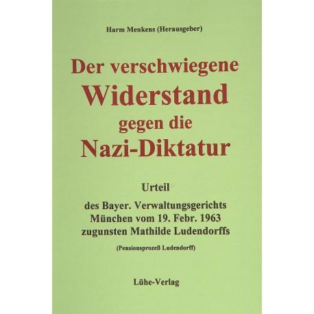 """Harm Menkens (Hrsg.): """"Der verschwiegene Widerstand gegen die Nazi-Diktatur"""""""