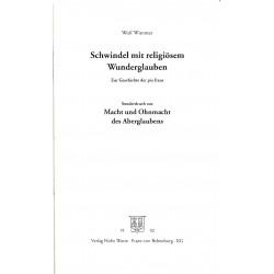 Wimmer, Wolf: Schwindel mit dem religiösen Wunderglauben